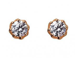 Золоті сережки з фіанітом 1б_с-065 фотографія
