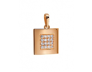Золотой кулон с фианитом 1б_п-003 фотография