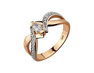 Золотое кольцо с фианитами 8б_к-155 фотография