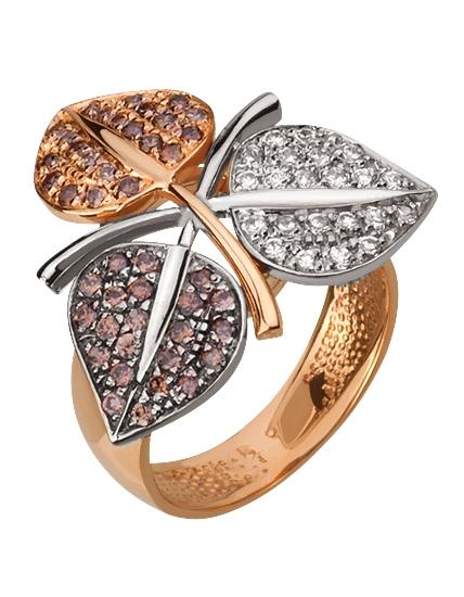 Золотое кольцо с фианитами 4-к-135 фотография