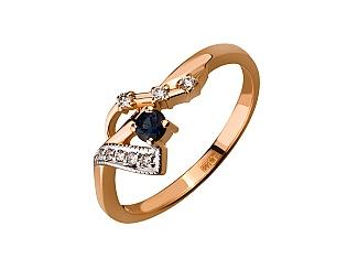 Золота каблучка з діамантами і корундами 01-17358091 фотографія