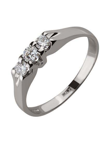 Золотое  кольцо с бриллиантами 01-17586591 фотография 1