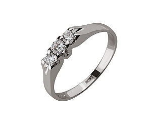 Золотое  кольцо с бриллиантами 01-17586591 фотография