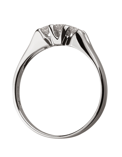 Золотое  кольцо с бриллиантами 01-17586591 фотография 2
