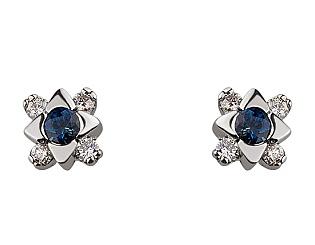 Золоті сережки з діамантом 01-17604191 фотографія