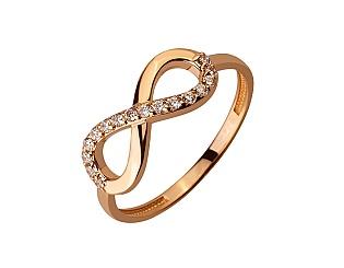 Золота каблучка з цирконіями 01-17620891 фотографія