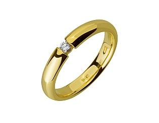 Золота каблучка з діамантом 01-17635591 фотографія