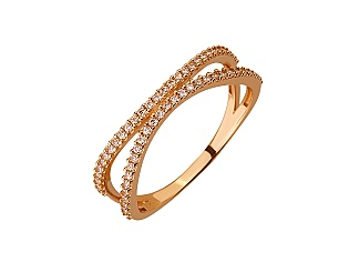 Золота каблучка з цирконієм куб. 01-17656491 фотографія