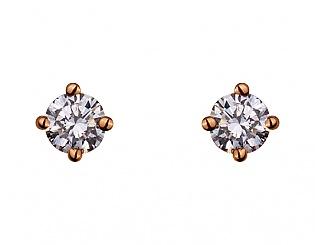 Золоті сережки з діамантом 1б_с-091 фотографія