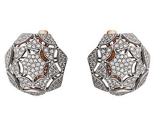 Золоті сережки з фіанітами 01-17245192 фотографія