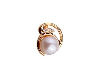Золотий кулон з діамантами 01-17420392 фотографія