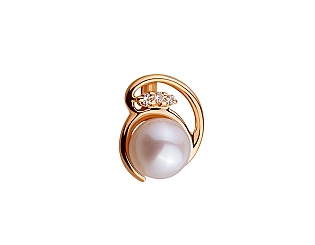 Золотой кулон с бриллиантами 01-17420392 фотография