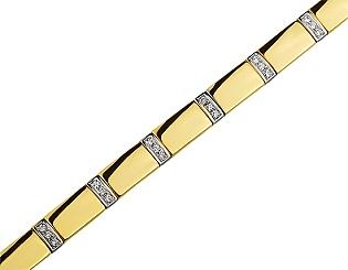 Золотой браслет с бриллиантами 01-17463592 фотография