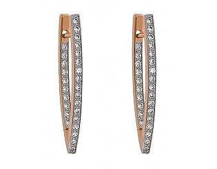 Золоті сережки з фіанітами 4-с-32 фотографія