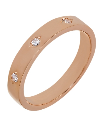 """Золотое обручальное кольцо 585 пробы с фианитами (15-000069798) """"Ювелирная карта"""""""
