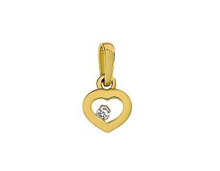 Золотий кулон з цирконієм куб. 3-п-1077 фотографія
