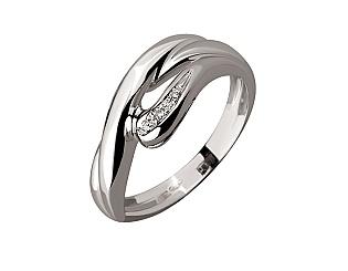 Золотое  кольцо с бриллиантом 01-17620793 фотография