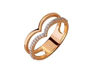 Золота каблучка з цирконієм куб. 01-17656493 фотографія