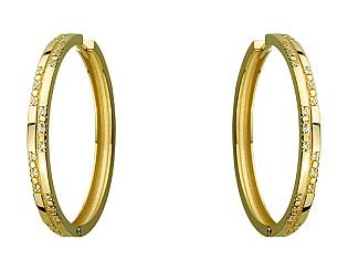 Золоті сережки з фіанітами 3б_с-111 фотографія