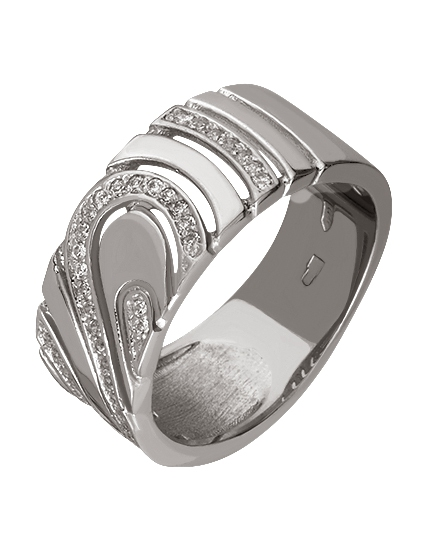 Золотое кольцо с фианитом 2к-255 фотография
