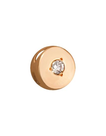 Золотий кулон з діамантами 1п-182 фотографія