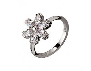 Золотое кольцо с фианитом 2к-261 фотография