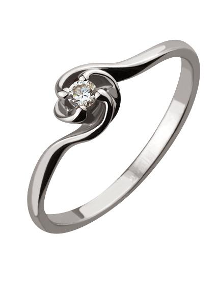 кольца с черным бриллиантом фото