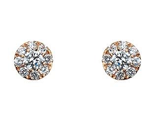 Золоті сережки з фіанітами 1б_с-123 фотографія