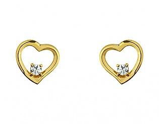 Золоті сережки з фіанітом 3б_с-087 фотографія