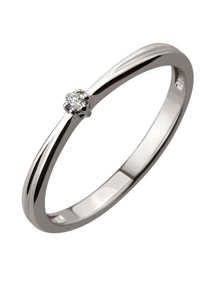 Золотое кольцо 585 пробы с бриллиантом (01-16681495)