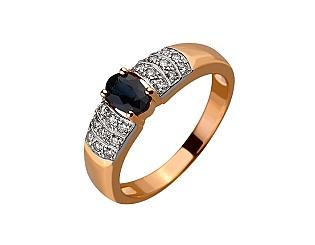 Золота каблучка з діамантом і корундом 01-17547995 фотографія