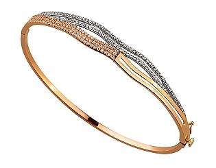 Золотой браслет с циркониями 01-17635595 фотография