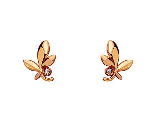 Золоті сережки з діамантом 1с-172 фотографія