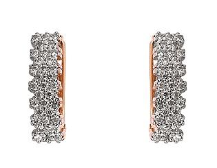 Золоті сережки з фіанітами 4-с-1228 фотографія