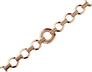 Золотой браслет с цирконием куб. 01-17645396 фотография