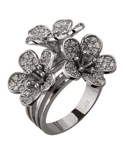 Золотое кольцо с бриллиантами (15-000119397)