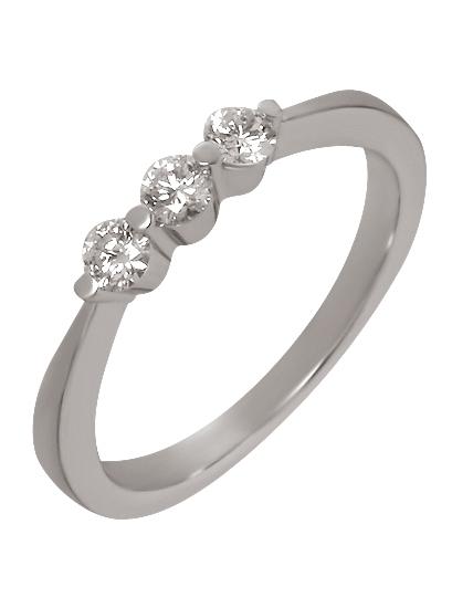 Золотое кольцо с бриллиантами 2к-253 фотография