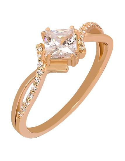 Золотое кольцо с фианитами 1б_к-074 фотография 1