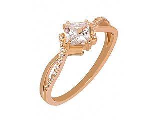 Золотое кольцо с фианитами 1б_к-074 фотография