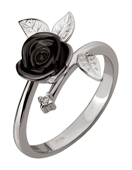 """Золотое кольцо 585 пробы с бриллиантом (15-000081832) """"Ювелирная карта"""""""