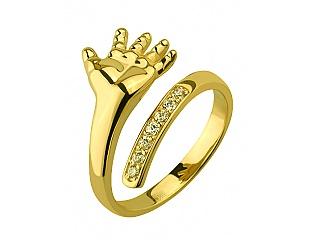 Золотое кольцо с фианитом 3б_к-125 фотография