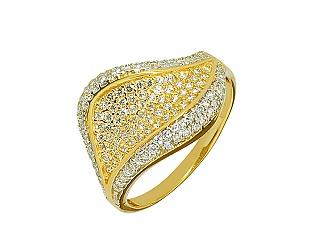 Золотое  кольцо с фианитами 01-15672897 фотография