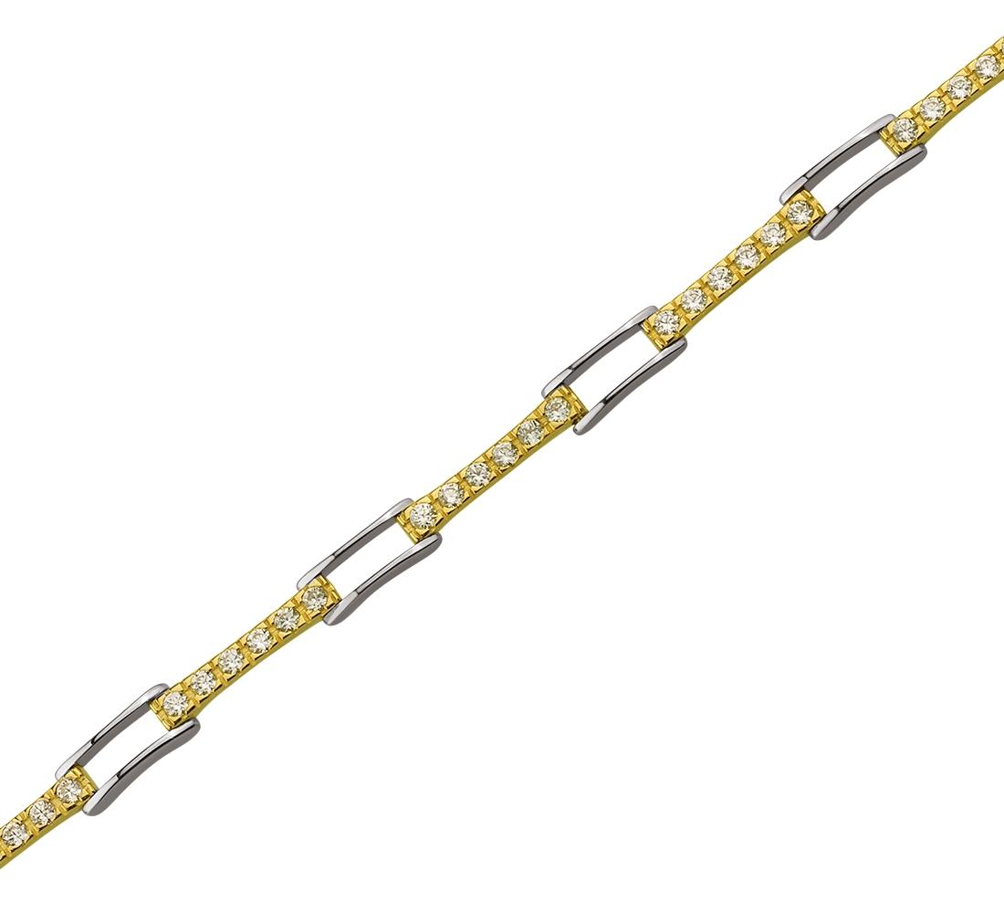 Золотий браслет з фіанітами 01-17358097 фотографія