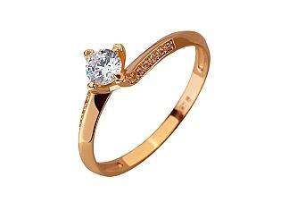 Золота каблучка з цирконієм куб. 01-17620797 фотографія