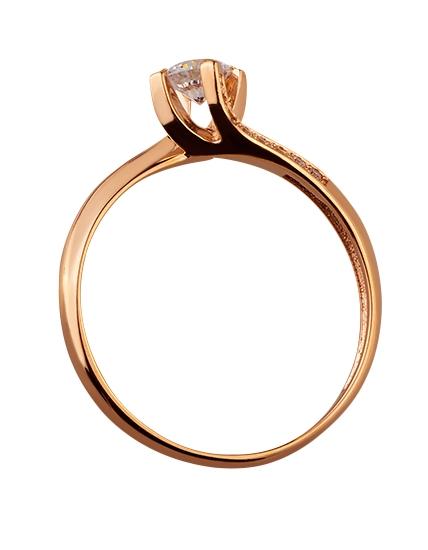 Золота каблучка з цирконієм куб. 01-17620797 фотографія 2