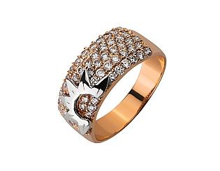 Золотое кольцо с цирконием куб. 01-17620798 фотография