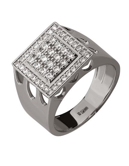 Золотой перстень 585 пробы с фианитами (15-000057699)