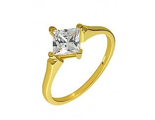 Золотое кольцо с фианитом 3б_к-104 фотография