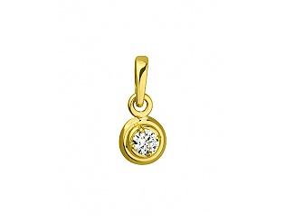 Золотий кулон з цирконіями 3б_п-060 фотографія