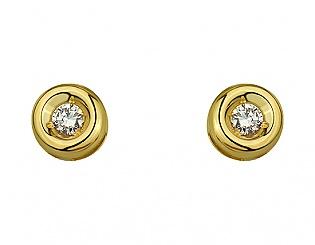 Золоті сережки з діамантами 3б_с-094 фотографія
